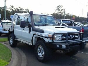 2016 Toyota Landcruiser VDJ79R MY12 Update GXL (4x4) Vanilla 5 Speed Manual Double Cab Chassis