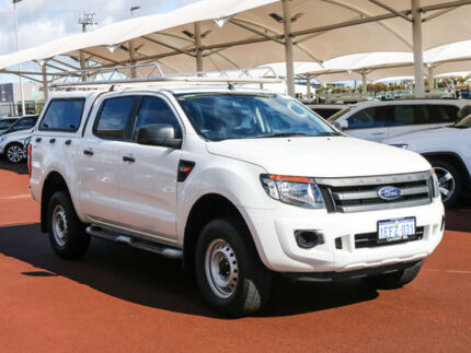 2013 Ford Ranger PX XL 2.2 HI-Rider (4x2) White 6 Speed Automatic Crew Cab Pickup Jandakot Cockburn Area Preview