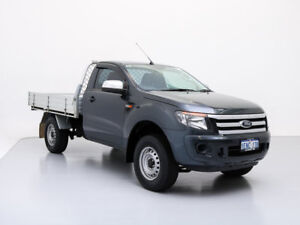2014 Ford Ranger PX XL 2.2 HI-Rider (4x2) Grey 6 Speed Manual Cab Chassis