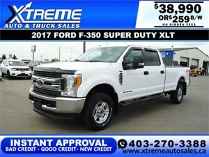 2017 FORD F-350 SUPER DUTY XLT 4X4 *INSTANT APPROVAL $259/BW!