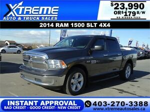 2014 RAM 1500 SLT CREW *INSTANT APPROVAL* $189/BW! APPLY NOW
