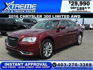 2016 Chrysler 300 Limited AWD $189 b/w APPLY NOW DRIVE NOW