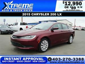 2015 CHRYSLER 200 LX $89 Bi-Weekly APPLY NOW DRIVE NOW