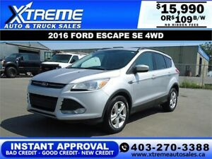 2016 FORD ESCAPE SE 4WD $109 B/W *INSTANT APPROVAL* APPLY NOW