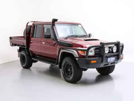 2015 Toyota Landcruiser VDJ79R MY12 Update GXL (4x4) Merlot 5 Speed Manual Double Cab Chassis Jandakot Cockburn Area Preview