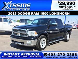 2012 DODGE RAM LONGHORN *INSTANT APPROVAL* $0 DOWN $209/BW