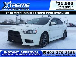 2010 MITSUBISHI LANCER EVOLUTION $189 B/W *APPLY NOW DRIVE NOW