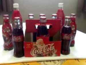 COCA COLA BOTTES WITH PRODUCT -10 BOTTLES