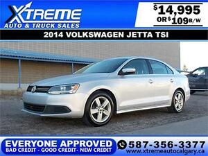 2014 Volkswagen Jetta Sedan TSI $109 Bi-Weekly APPLY NOW DRIVE N