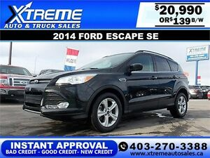 2014 Ford Escape SE EcoBoost $139 bi-weekly APPLY NOW DRIVE NOW