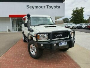 2018 Toyota Landcruiser VDJ78R MY18 Workmate (4x4) 2 Seat French Vanilla 5 Speed Manual TroopCarrier