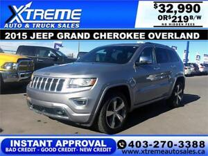 2015 JEEP GRAND CHEROKEE OVER $219 BI-WEEKLY APPLY NOW DRIVE NOW