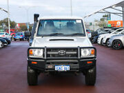 2014 Toyota Landcruiser VDJ79R MY12 Update Workmate (4x4) White 5 Speed Manual Double Cab Chassis Jandakot Cockburn Area Preview
