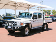2014 Toyota Landcruiser VDJ79R MY12 Update GXL (4x4) White 5 Speed Manual Double Cab Chassis Jandakot Cockburn Area Preview