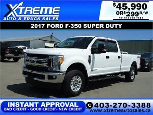 2017 Ford Super Duty F-350  XLT *INSTANT APPROVAL* $299/BW