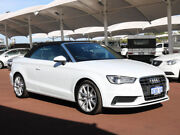 2015 Audi A3 8V MY15 1.4 TFSI Attraction CoD White 7 Speed Auto Direct Shift Cabriolet Morley Bayswater Area Preview