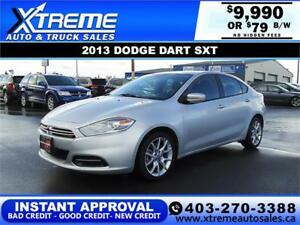 2013 DODGE DART SXT $79 B/W $0 DOWN* APPLY NOW DRIVE NOW
