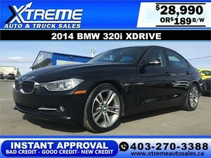 2014 BMW 320i Xdrive $189 bi-weekly APPLY NOW DRIVE NOW