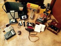 Lot of vintage cameras and other vintage items