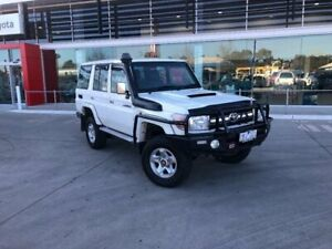 2013 Toyota Landcruiser VDJ76R MY12 Update GXL (4x4) French Vanilla 5 Speed Manual Wagon Seymour Mitchell Area Preview