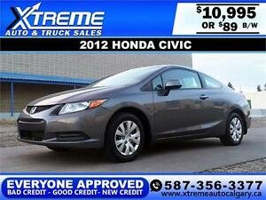 2012 Honda Civic Coupe $89 bi-weekly APPLY NOW DRIVE NOW