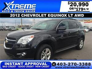 2012 Chevy Equinox LT AWD $179 bi-weekly APPLY NOW DRIVE NOW