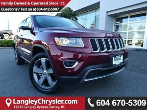 2016 Jeep Grand Cherokee Limited W/LEATHER INTERIOR, SUNROOF...