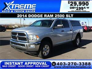2014 DODGE RAM 2500 SLT CREW $199 B/W APPLY NOW DRIVE NOW