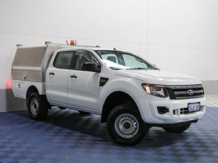 2012 Ford Ranger PX XL 2.2 (4x4) White 6 Speed Automatic Crew Cab Chassis Morley Bayswater Area Preview