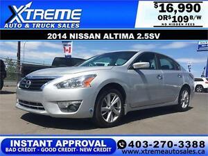 2014 Nissan Altima $109 bi-weekly APPLY NOW DRIVE NOW