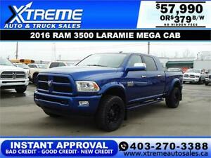 2016 RAM 3500 LARAMIE MEGA CAB *INSTANT APPROVAL $379/BW!