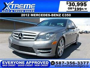 2012 Mercedes C350 4MATIC $199 bi-weekly APPLY NOW DRIVE NOW