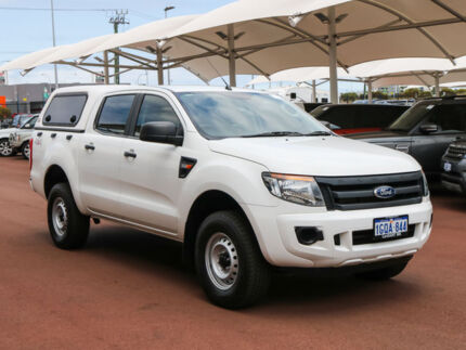 2013 Ford Ranger PX XL 3.2 (4x4) White 6 Speed Automatic Dual Cab Utility Jandakot Cockburn Area Preview