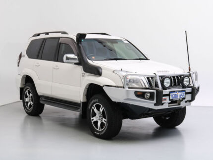 2009 Toyota Landcruiser Prado KDJ120R 07 Upgrade GX (4x4) White 6 Speed Manual Wagon Jandakot Cockburn Area Preview