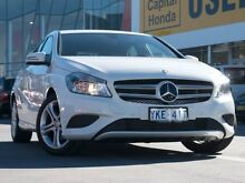 2014 Mercedes-Benz A180 W176 D-CT White 7 Speed Sports Automatic Dual Clutch Hatchback Pearce Woden Valley Preview