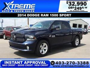 2014 RAM 1500 SPORT CREW CAB *INSTANT APPROVAL* $249/BW!