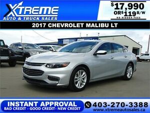 2017 CHEVROLET MALIBU LT *INSTANT APPROVAL* $0 DOWN $119/BW!