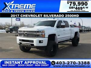 2017 CHEVY SILVERADO 2500HD LIFTED *INSTANT APPROVAL $379/BW