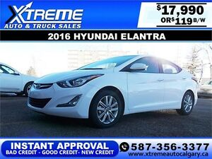 2016 Hyundai Elantra Sport $119 bi-weekly APPLY NOW DRIVE NOW