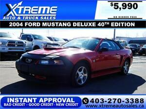 2004 FORD MUSTANG DELUXE 40TH EDITION CONVERTIBLE