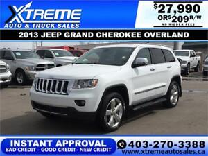 2013 JEEP GRAND CHEROKEE OVERLAND $209 Bi-Weekly APPLY NOW