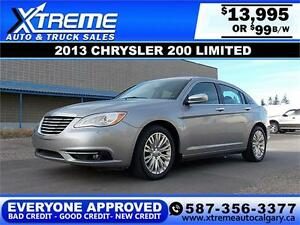 2013 Chrysler 200 Limited $99 bi-weekly APPLY NOW DRIVE NOW