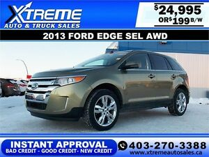 2013 Ford Edge SEL AWD $199 BI-WEEKLY APPLY NOW DRIVE NOW