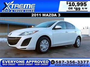2011 Mazda MAZDA3 $89 BI-WEEKLY APPLY NOW DRIVE NO