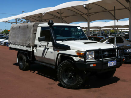 2009 Toyota Landcruiser VDJ79R Workmate (4x4) White 5 Speed Manual Cab Chassis