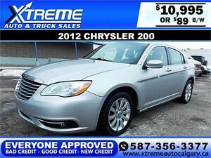 2012 Chrysler 200 Touring $89 bi-weekly APPLY NOW DRIVE NOW