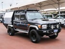 2017 Toyota Landcruiser LC70 VDJ79R MY17 GXL (4x4) Graphite 5 Speed Manual Double Cab Chassis