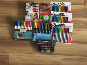 Brand new art supplies- markers and colour pencils