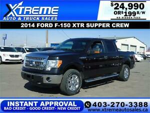 2014 FORD F-150 XTR SUPERCREW 4X4 $199 B/W *$0 DOWN* APPLY NOW