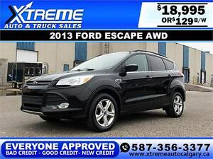2013 Ford Escape AWD $129 bi-weekly APPLY NOW DRIVE NOW